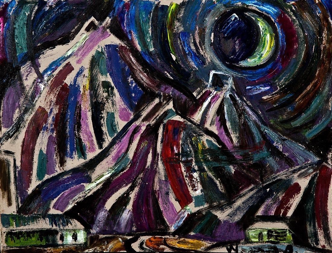 Night mine waste heaps - Bauer W.