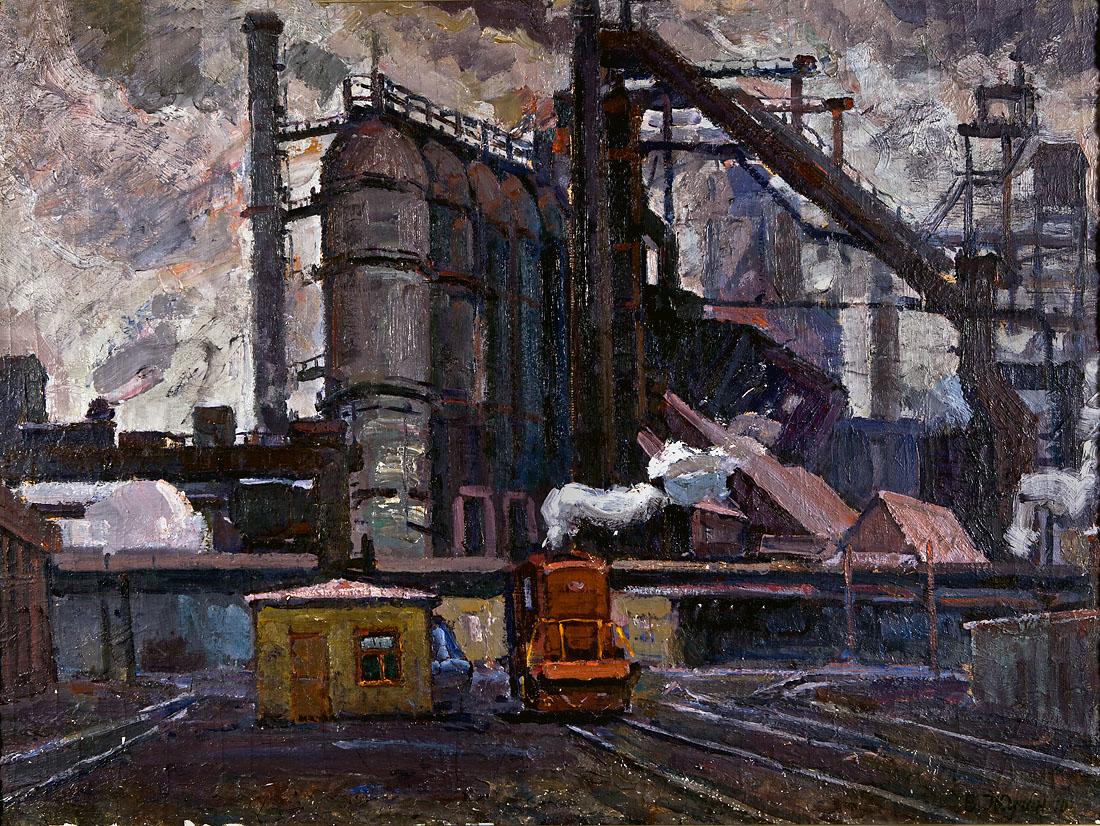 Индустриальный пейзаж - Жуган В.А.