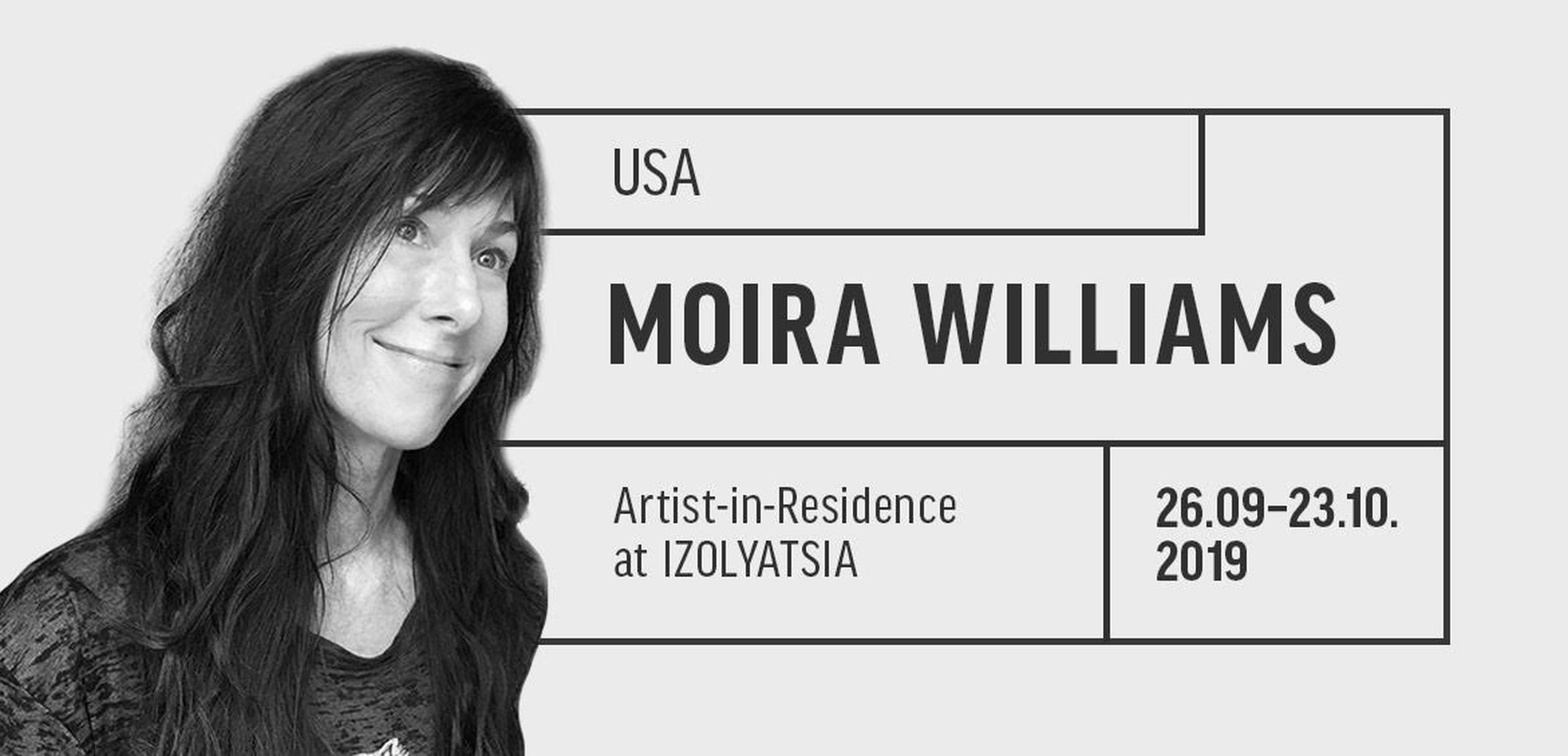 Artist Moira Williams in residence at IZOLYATSIA