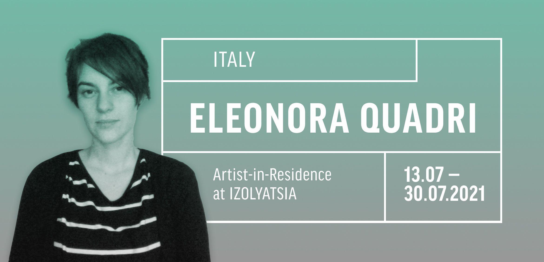 Artist Eleonora Quadri is in residence at IZOLYATSIA